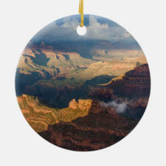 Grand Canyon South Rim from Powell Point Round Ceramic Decoration