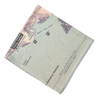 Grand Canyon South Rim map bandana