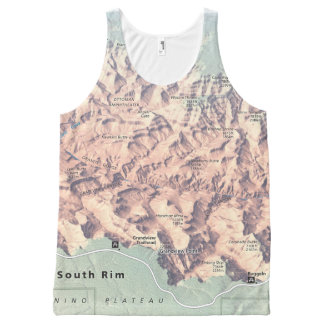 Grand Canyon South Rim map unisex All-Over Print Tank Top
