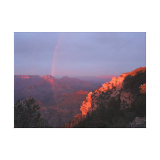 Grand Canyon Sunset Rainbow Wrapped Canvas Canvas Prints