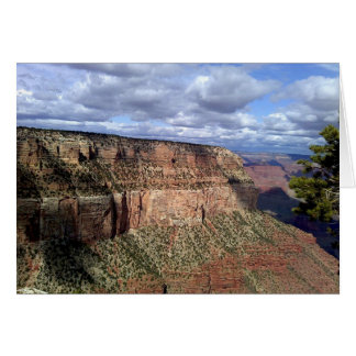 Grand Canyon Under Rain Clouds Card