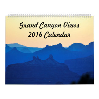 Grand Canyon Views 2016 Calendar