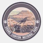 Grand Canyon Vintage Poster Design Round Sticker