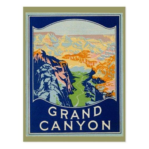 Grand Canyon - Vintage Travel Postcard