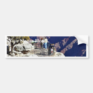 Grand Canyons Overlook Railings Pointing Bumper Stickers