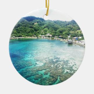 Grand Cayman Coral Reef Round Ceramic Decoration