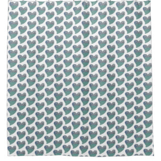 Grand Cayman Heart Shower Curtain