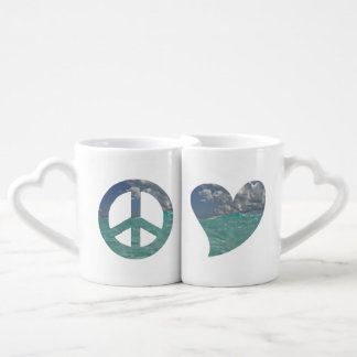 Grand Cayman Peace and Love Mugs
