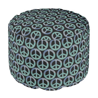 Grand Cayman Peace Sign Round Pouf