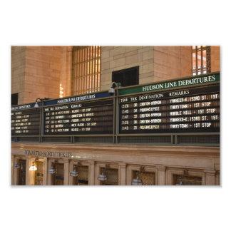 Grand Central Hudson Harlem Train Departures NYC Photo Print