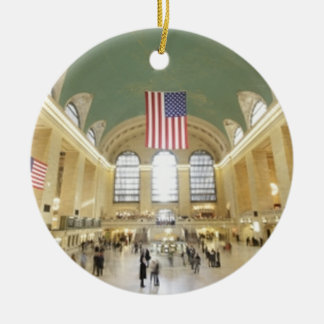 Grand Central Station Ceramic Ornament