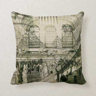 grand central station, NYC toss pillow