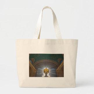 Grand Central Terminal Clock Large Tote Bag