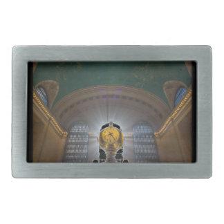 Grand Central Terminal Clock Rectangular Belt Buckles
