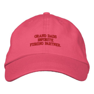 Grand dads Favorite Fishing Partner Embroidered Hat
