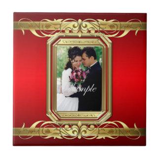 Grand Duchess Add Photo Red Wedding Scroll Tile