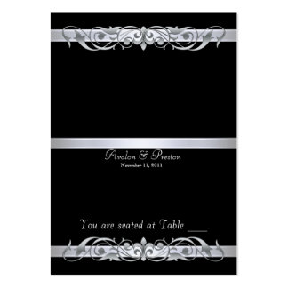 Grand Duchess Black Folding Table Placecard Pack Of Chubby Business Cards