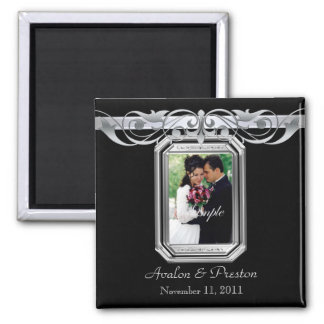 Grand Duchess Black Photo Save The Date Magnet