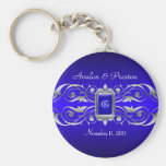 Grand Duchess Blue Monogram Teal Keychain