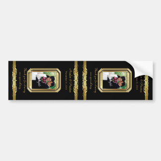 Grand Duchess Gold Scroll Large Black Wine Label Bumper Sticker