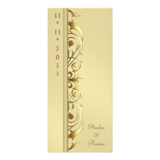 Grand Duchess Gold Scroll Wedding Program 10 Cm X 23 Cm Rack Card