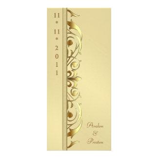 Grand Duchess Gold Scroll Wedding Program 10 Cm X 23 Cm Rack Card