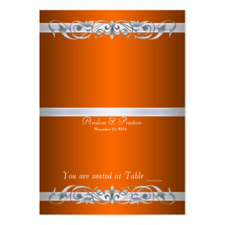 Grand Duchess Orange Folding Table Placecard Business Card Template