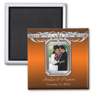 Grand Duchess Orange Photo Save The Date Magnet
