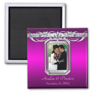 Grand Duchess Pink Photo Save The Date Magnet