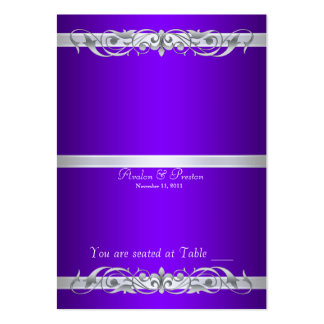 Grand Duchess Purple Folding Table Placecard Large Business Cards (Pack Of 100)