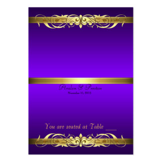 Grand Duchess Purple Gold Scroll Table Placecard Business Card