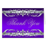 Grand Duchess Purple & Silver Thank You NoteCard Greeting Card