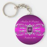 Grand Duchess Silver Monogram Pink Keychain