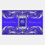 Grand Duchess Silver Save The Date Blue Sticker
