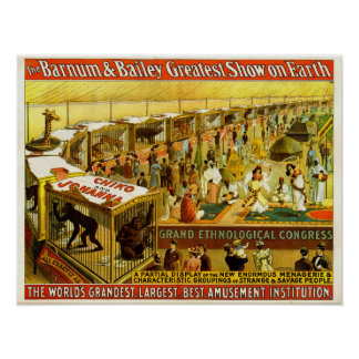 Grand Ethnological Congress Barnum & Bailey Circus Poster