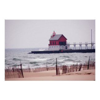 Grand Haven Beach photo Poster
