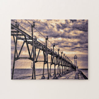 Grand Haven lighthouse and pier, Grand Haven Jigsaw Puzzle