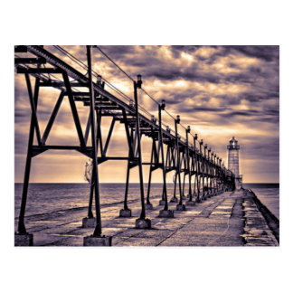 Grand Haven lighthouse and pier, Grand Haven Postcard