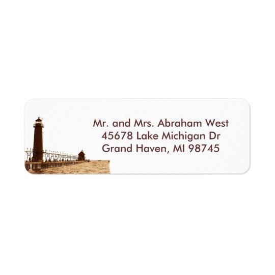 Grand Haven MI address label