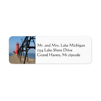 grand haven michigan lighthouse return address label