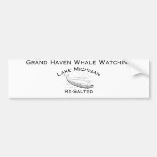Grand Haven Whale Watching Bumper Sticker