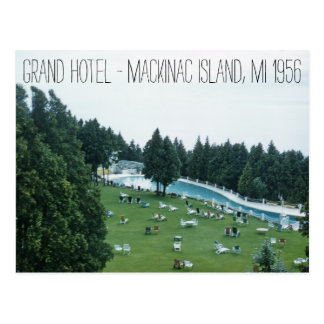 Grand Hotel 1956 Mackinac Island Michigan Postcard