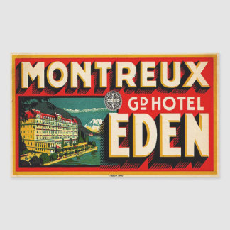 Grand Hotel Eden (Montreux France) Rectangular Sticker