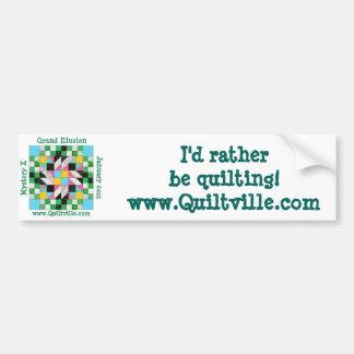 Grand Illusion bumper sticker