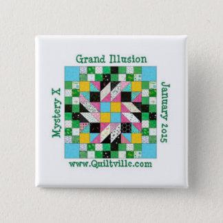 Grand illusion pin back button