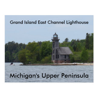 Grand Island East Channel Lighthouse Postcard