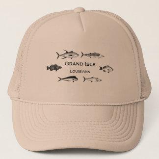 Grand Isle Louisiana Deep Sea Fishing Trucker Hat