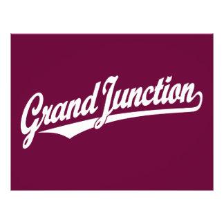 Grand Junction script logo in white 21.5 Cm X 28 Cm Flyer