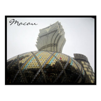 grand lisboa grey postcard