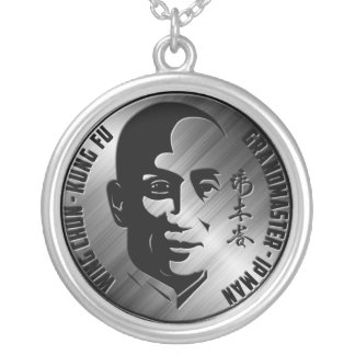 Grand Master Yip Man - Wing Chun Kung Fu Silver Plated Necklace